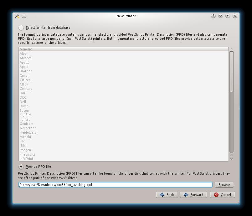 Как создать файл ppd