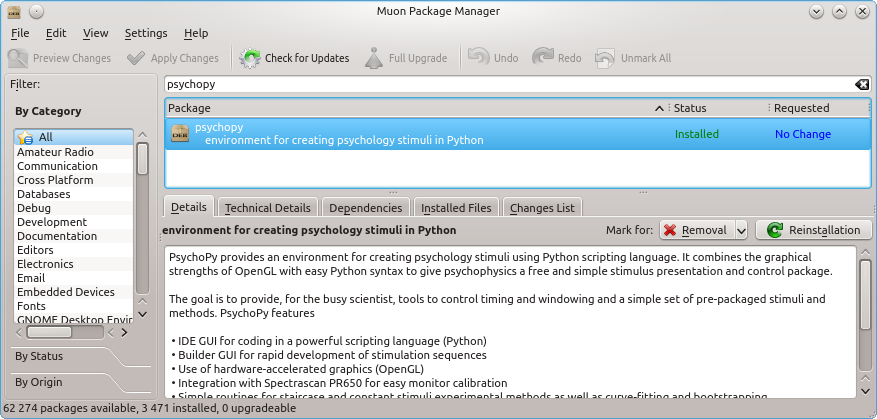 WCMS, Installing Python and Psychopy